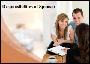 Responsibilities of Sponsor