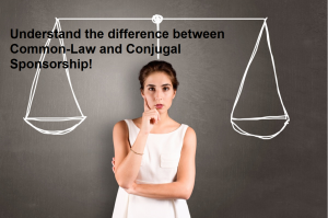 The difference between common law and conjugal sponsorship